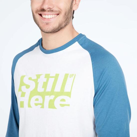Camiseta Manga Larga UP BASIC Blanco Denim Hombre