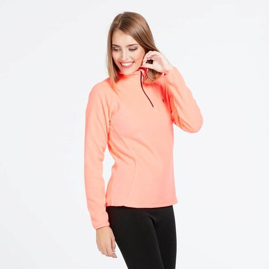 Forro Polar UP BASIC Cuello Zip Coral Mujer