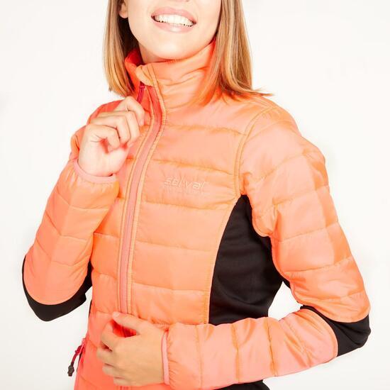 Chaqueta Acolchada SERVAL Naranja Mujer