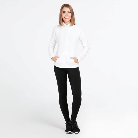 Forro Polar Cremallera UP BASIC Blanco Mujer