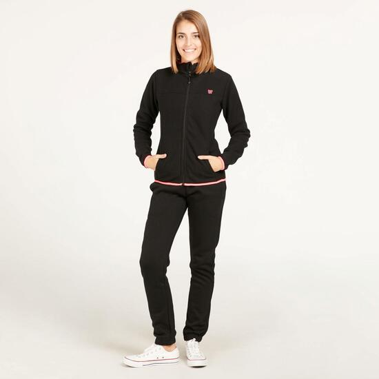 Forro Polar UP BASIC Reversible Negro Coral Mujer