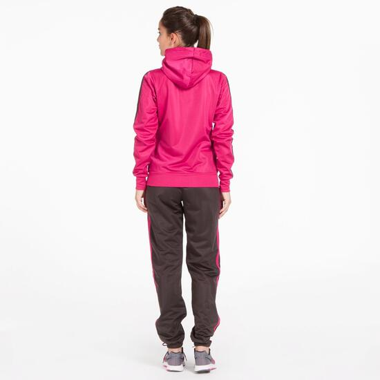 Chándal Capucha UP BASIC Fucsia Gris Mujer