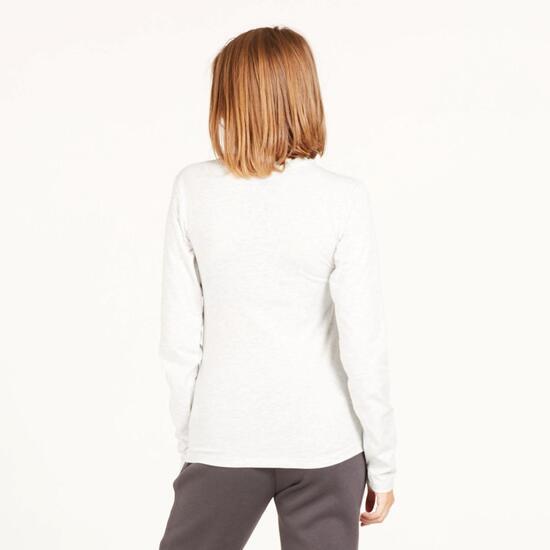 Camiseta Manga Larga UP STAMPS Blanco Mujer