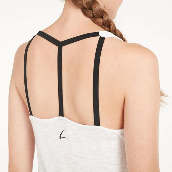 Camiseta Tirantes Holgada ILICO Blanca Mujer