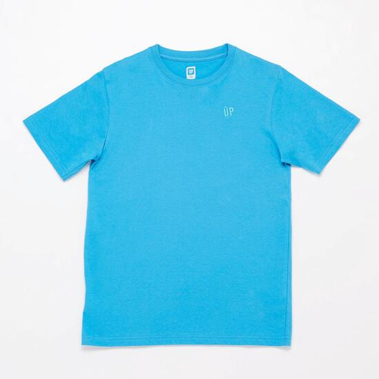 Camiseta Manga Corta UP BASIC Azul Vivo Niño (10-16)