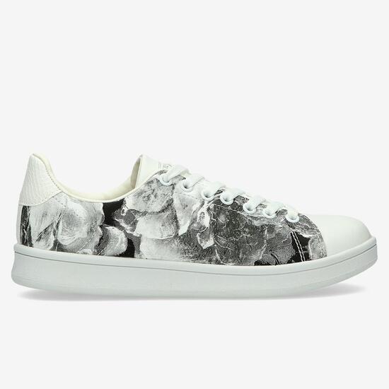 Zapatillas Casual SILVER Estampadas Negro Blanco Mujer