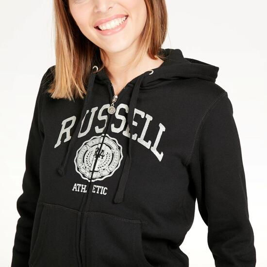 Sudadera Capucha RUSSELL ATHLETIC Negra Mujer