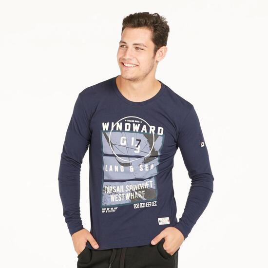 FILA NAUTICA Camiseta Manga Larga Marino Hombre