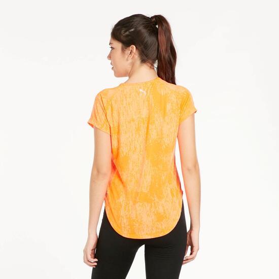 PUMA DANCER Camiseta Manga Corta Naranja Mujer