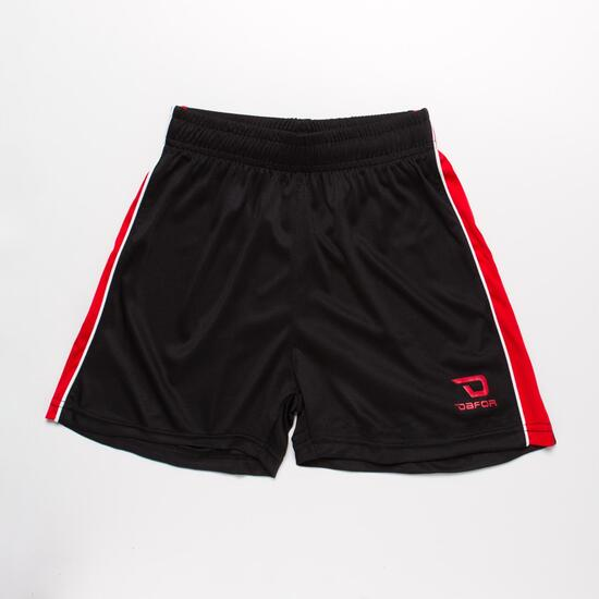 Pantalón Fútbol DAFOR Negro Rojo Niño (6-16)