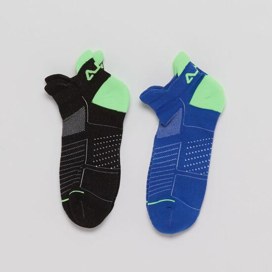 FILA Calcetines Cortos Azul Negro Hombre