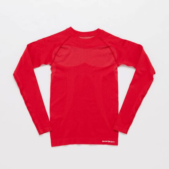 Camiseta Interior BORIKEN  Sin Costuras Rojo Niño (10-16)