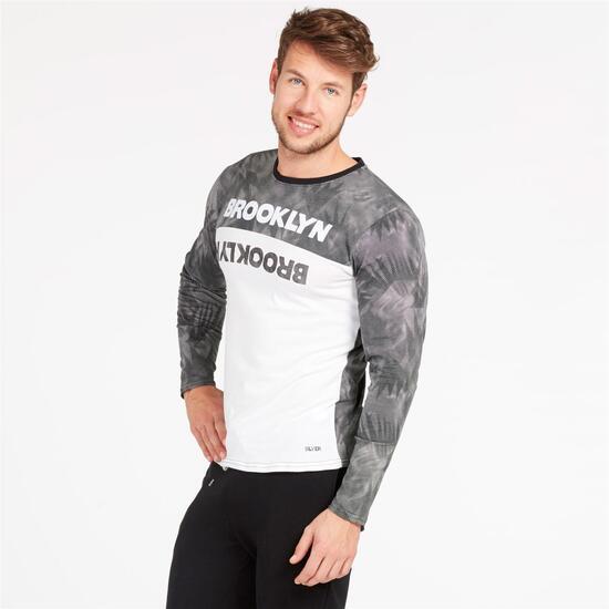 Camiseta Manga Larga SILVER Negro Blanco