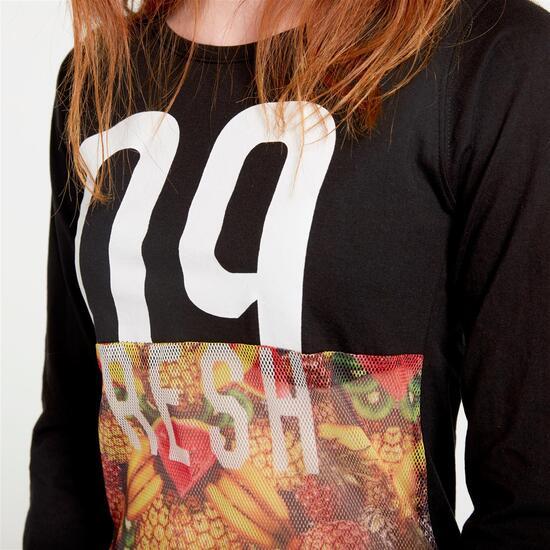 Camiseta SILVER ALMONACID Negro Mujer