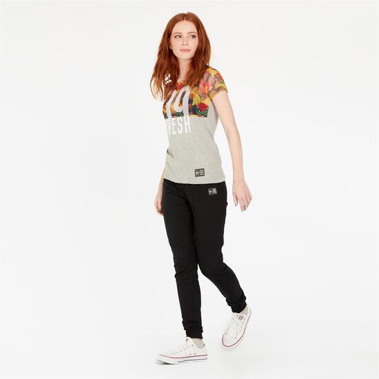 Camiseta SILVER ALMONACID Gris Mujer