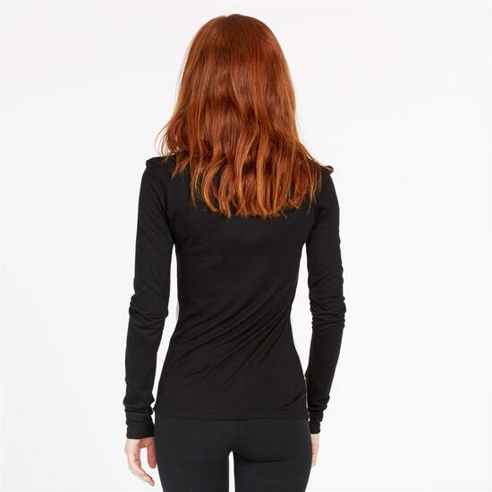 Camiseta SILVER ALMOROX Negro Blanco Mujer