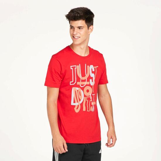 NIKE JDI Camiseta Roja Hombre