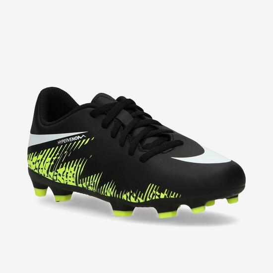 ff9c45203c38f Nike Hypervenom Phade Neymar Botas Fútbol Tacos Negro Niño (33-35 ...