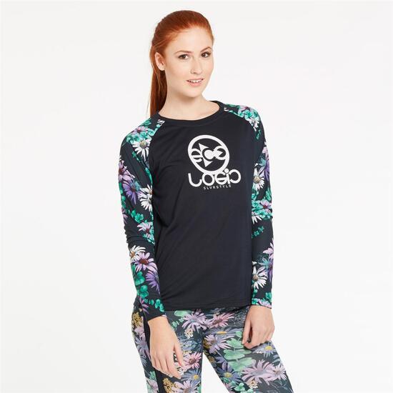 Camiseta Mangas Estampadas SILVER EUCALIPTO Mujer