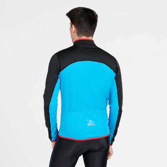 SPIUK Maillot Ciclismo Térmico Negro Azul Hombre