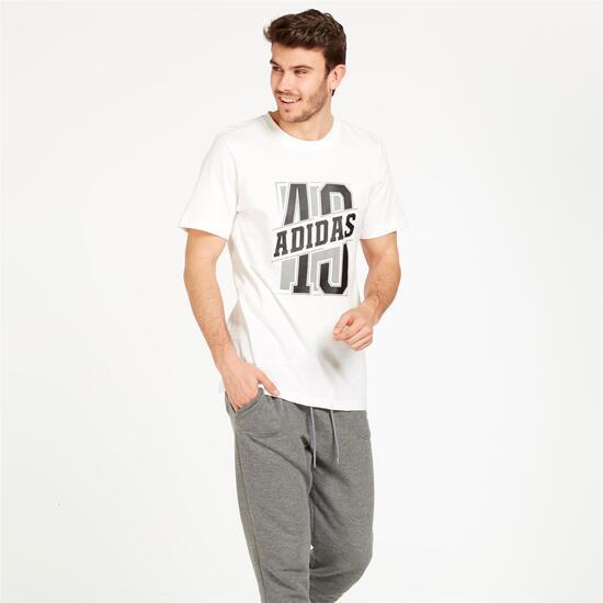 ADIDAS Camiseta Manga Corta Blanco Hombre