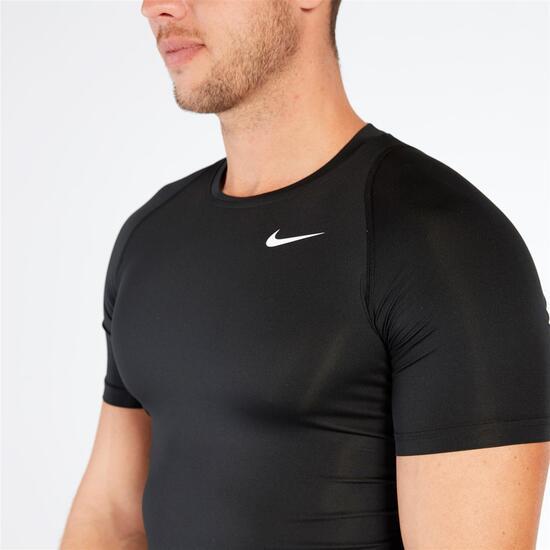 NIKE Camiseta Compresión Negra Hombre