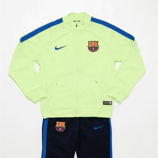 Nike Chándal Fc Barcelona Niño (10-16) - VERDE  50cc17dfb34