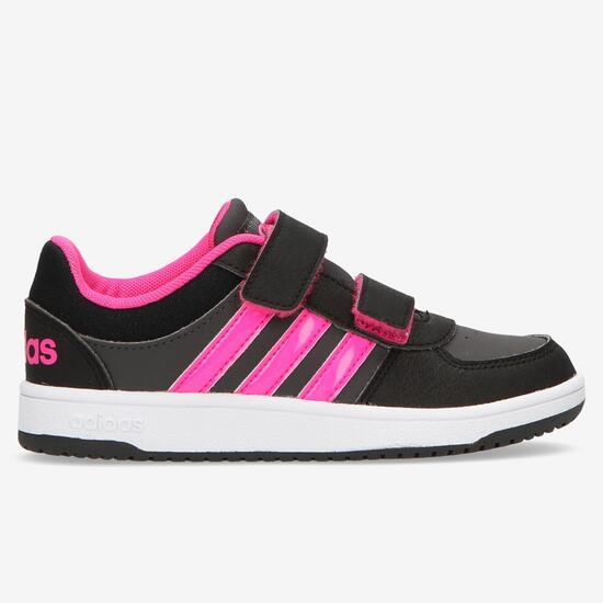 adidas Hoops Zapatillas Velcro Negras Niña (28 35)