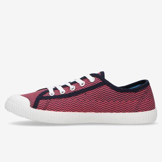 Zapatillas Lona Rosas Mujer Up