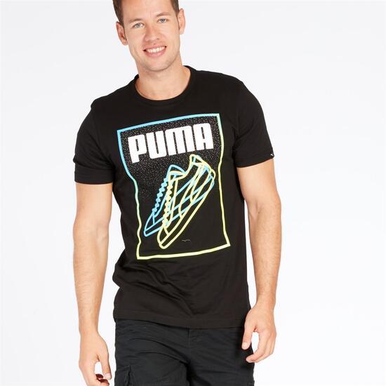 PUMA RESET Camiseta Manga Corta Negra Hombre
