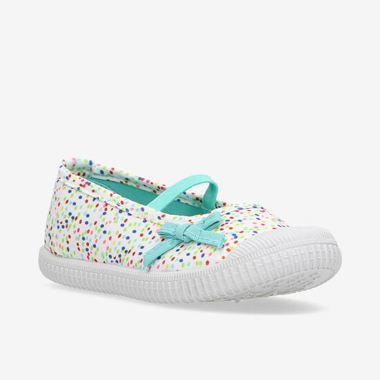 Zapatillas Lona Niña Up Blanco Multicolor