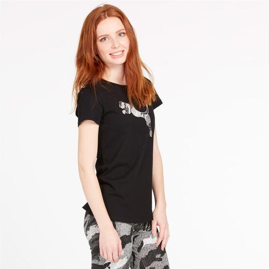 Camiseta Puma Stamp Negra Mujer negro 0198299 TBSCBBQ