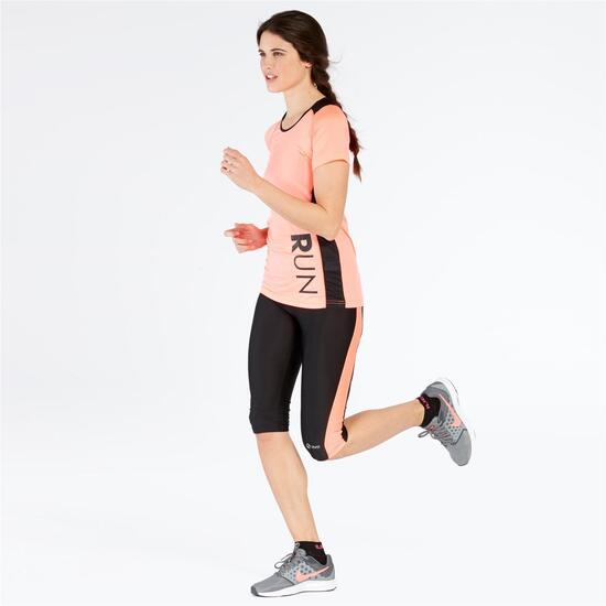 Camiseta Manga Corta Running IPSO Coral Mujer
