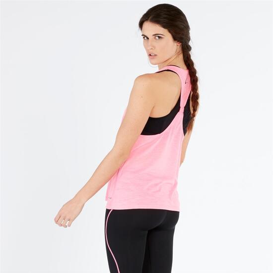 Camiseta Tirantes Gym ILICO Rosa Negro Mujer