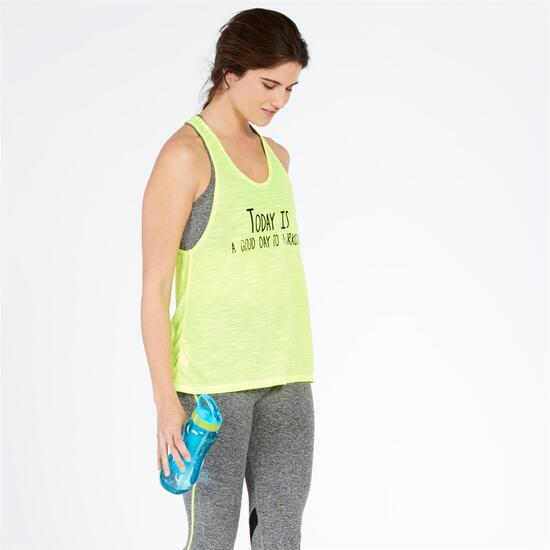 Camiseta Tirantes Gym ILICO Lima Gris Mujer