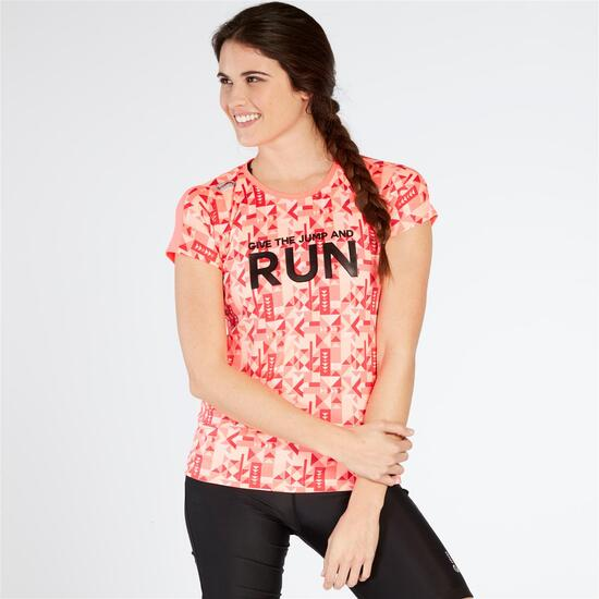 Camiseta Running IPSO EXPERIENCE Coral Mujer