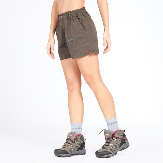 Pantalón Corto Montaña Boriken Gris Mujer