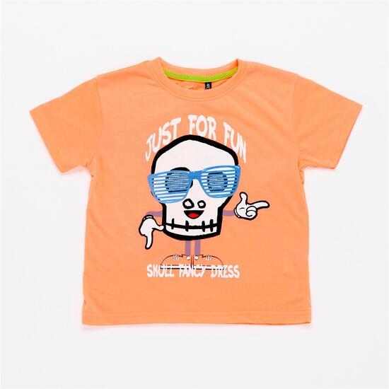 Camiseta Naranja Niño Silver Stamps (2-8)