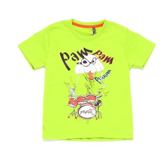 Camiseta SILVER STAMPS Verde Niño (2-8)