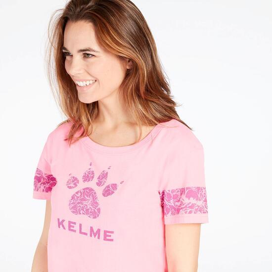 KELME Camiseta Rosa Flúor Mujer
