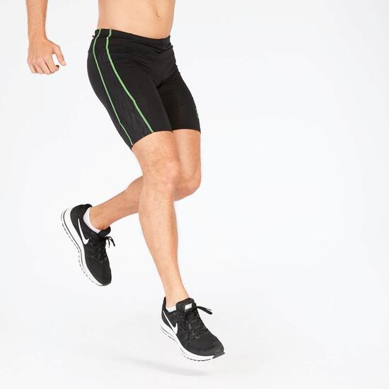 Pantalón Corto Running Negro Verde Hombre Fila