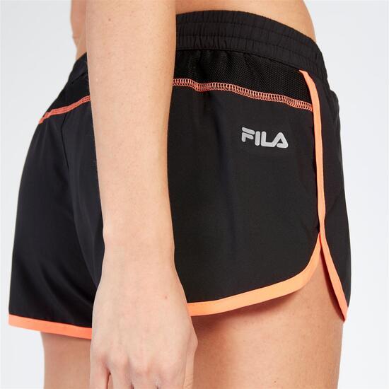 FILA TRAINING Pantalón Corto Negro Mujer