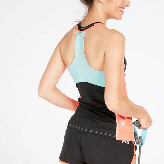 Camiseta Running Mujer Negra Coral Puma