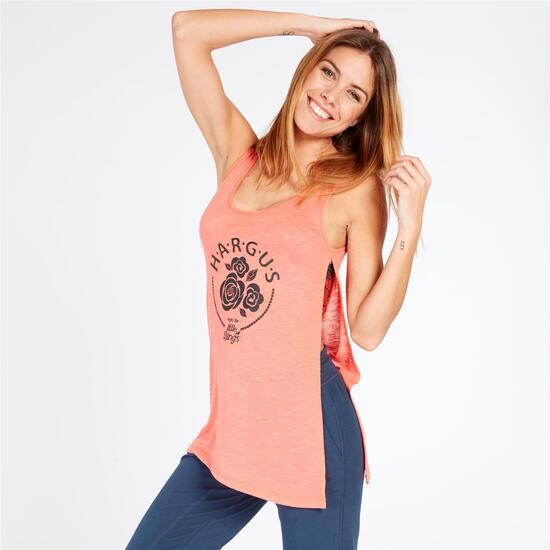 Camiseta Tirantes Hargus Coral Mujer