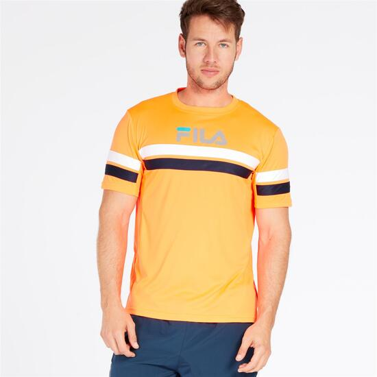 FILA Camiseta Naranja Hombre
