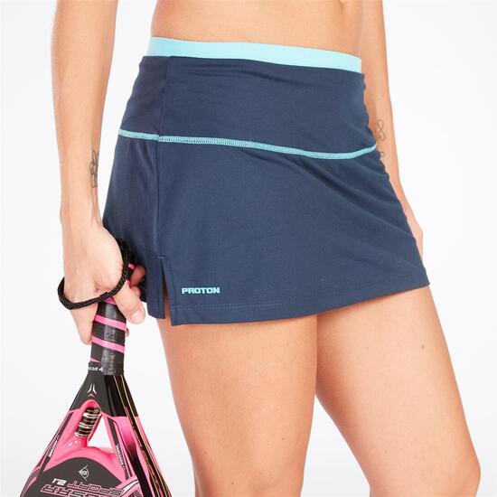 Falda Tenis Azul Marino Turquesa Mujer Proton
