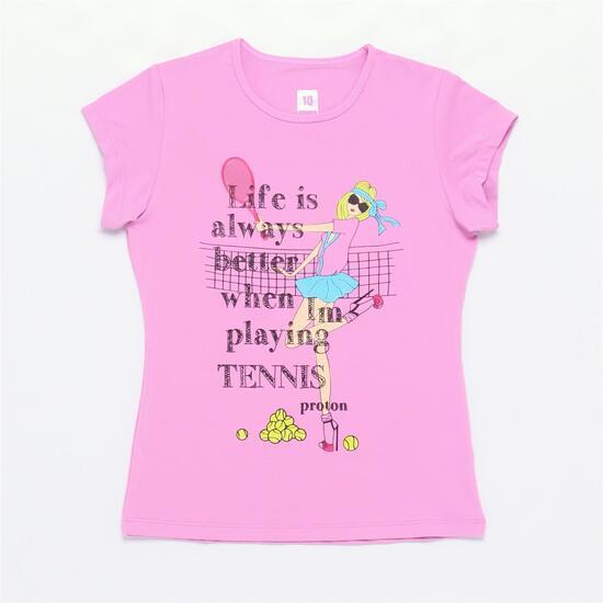 Camiseta Protón Rosa Niña