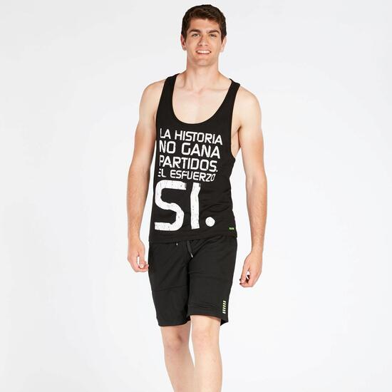 Camiseta Tirantes SILVER STREET SOCCER Negro Hombre