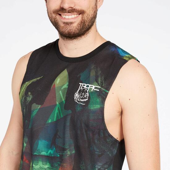 Camiseta Sin Mangas Silver Tropic Estampada Hombre