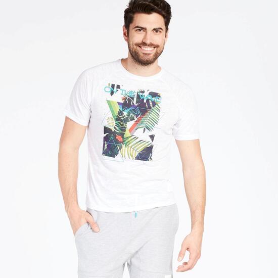 Camiseta Blanca Silver Tropic Hombre